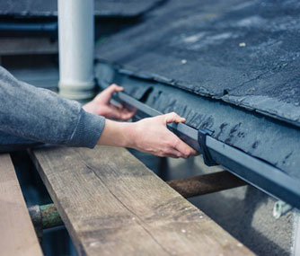 Roof gutter leak repair services